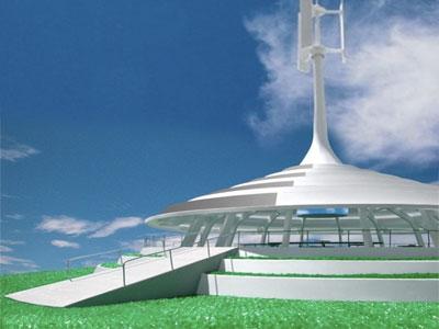 California University Solar Wind Pavilion